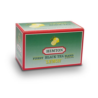 Hemton Black Tea Lemon Blend (Pack of 20 envelopes)