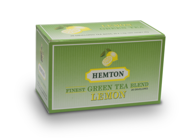 Hemton Green Tea with Lemon (Pack of 20 envelopes)