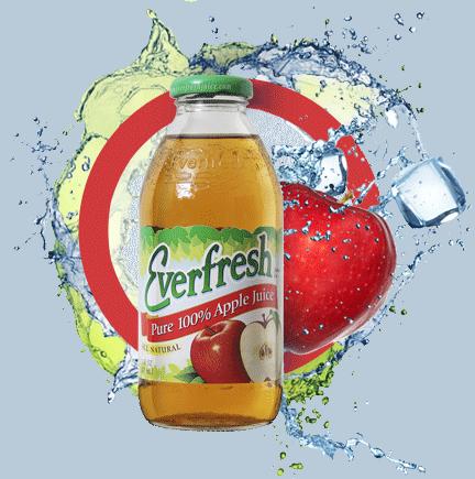 Everfresh Apple Juice 16 oz & 64 oz