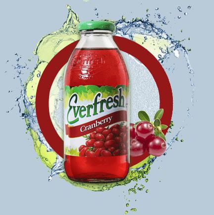 Everfresh Cranberry Juice 16 oz & 64 oz