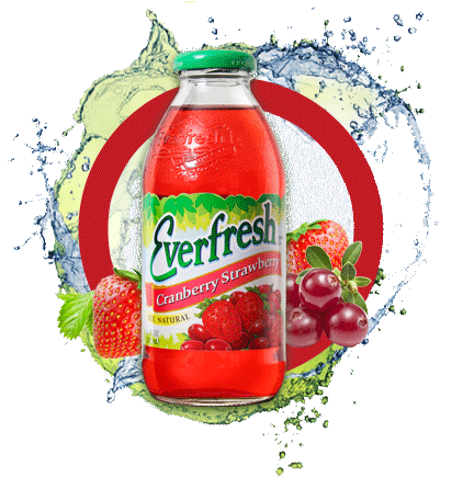 Everfresh Cranberry Strawberry Juice 16 oz