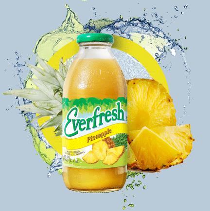 Everfresh Pineapple Juice 16oz & 64oz