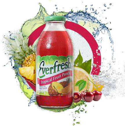 Everfresh Tropical Fruit Punch Juice 16oz. & 64 oz.