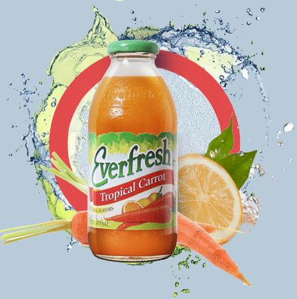 Everfresh Tropical Carrot Juice 16 oz
