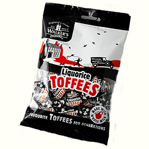 Walkers Liquorice Toffee bag (150 gr)