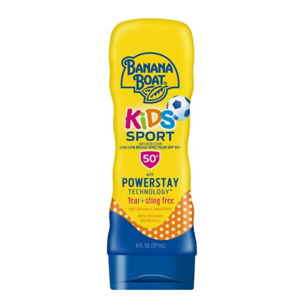 Banana Boat Kids Sport Sunscreen Lotion SPF 50+, 6 oz