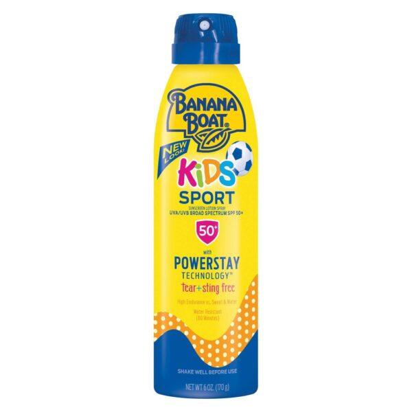 Banana Boat Kids Sport Sunscreen Spray – SPF 50+ – 6oz