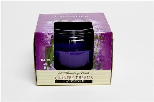 Country Dreams Lavender 3 oz candle jar