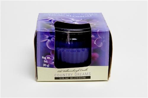Country Dreams Lilac Blossom 3 oz candle jar