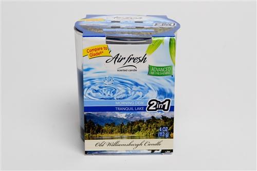 Air Fresh 2 in 1  Morning Dew & Tranquil Lake  4 oz Tumbler