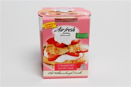 Air Fresh Strawberry Shortcake 4oz Tumbler by Old Williamsburgh Candle