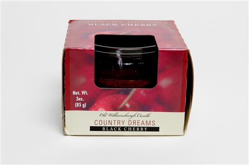 Country Dreams Black Cherry 3 oz candle jar