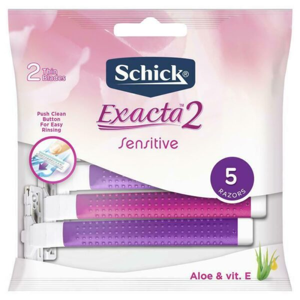 Schick Exacta 2 Piel Delicada 5 razor's pack